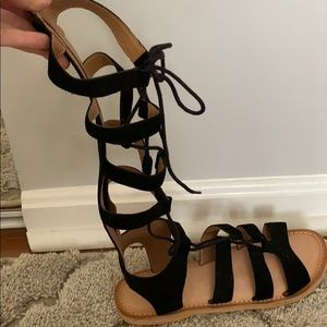 Black urban outfitters gladiator sandals